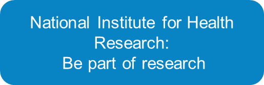 national institute for health research: be part of research