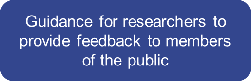 guidance for researchers to provide feedback to members of the public